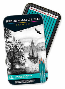 Prismacolor-Premier-Turquoise-Professional-Art-Drawing-Pencils-Medium-Set-amp-Case