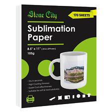 170 Sheets Stone City Sublimation Paper 85x11 Inkjet Heat Transfer Mugs T Shirt