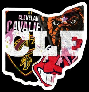 Vinyl-Magnet-Cleveland-all-in-one-Browns-Indians-Cavaliers-custom-Wahoo-Brownie