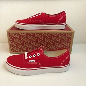 e1c0a99e47 Image is loading Vans-Authentic-Classic-Canvas-Skate-Shoes-Red-White-