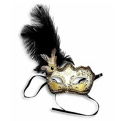 Black Half Face Glitter Mask Venetian New Years Eve Masquerade Ball Face Party