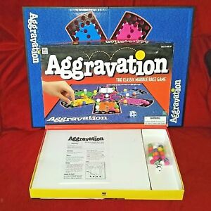 Vintage Milton Bradley Aggravation Board Game Complete W