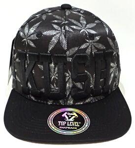 f38af291919 KUSH Snapback Cap Hat Cannabis Marijuana 420 Weed Blunt 100% Cotton ...