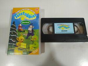Teletubbies-Navidad-BBC-VHS-Cinta-Espanol-2T