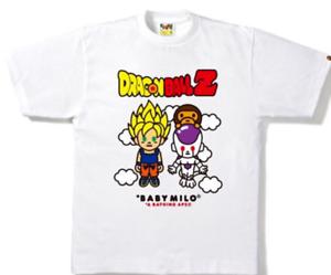 7fcae0b8 NEW RARE BAPE x DRAGON BALL Z TEE WHITE T-shirt L Size ISETAN A ...