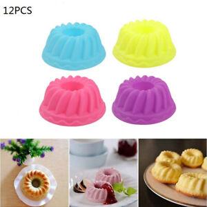 12PCS-Moule-Cuisson-Silicone-Rond-Bakeware-Cuisine-Pain-Gateau-Decoration-Outil