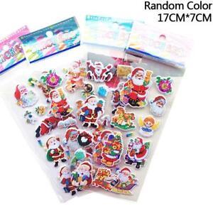 5-Sheets-Santa-Claus-3D-Bubble-Sticker-Christmas-Puffy-Sticker-Decoration-Random