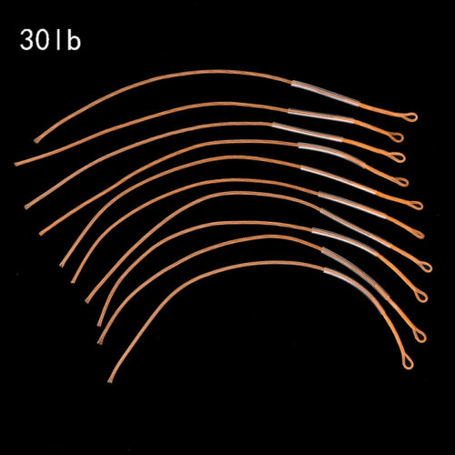 10pcs//lot Fly Fishing Line Braided Loop Connector 20//30//50LB Leader ConnecY*jg