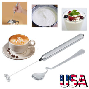 Mini Handy Electric Whisk Mixer Coffee Milk Frother Foamer Kitchen Tool