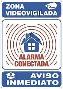 Panneau-Alarme-Gas-Systeme-de-Securite-Metallique-Interieur-Exterieur-30x21cm