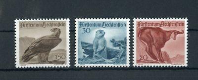125547 Eine Hohe Bewunderung Gewinnen Liechtenstein Nr.253-255 ** Jagd Tiere Me 28,-++ !!!