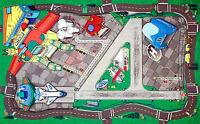 Flughafen Spielzeug Matte Für Kinder 105x80cm Airport Play Mat Diecast Hr2039