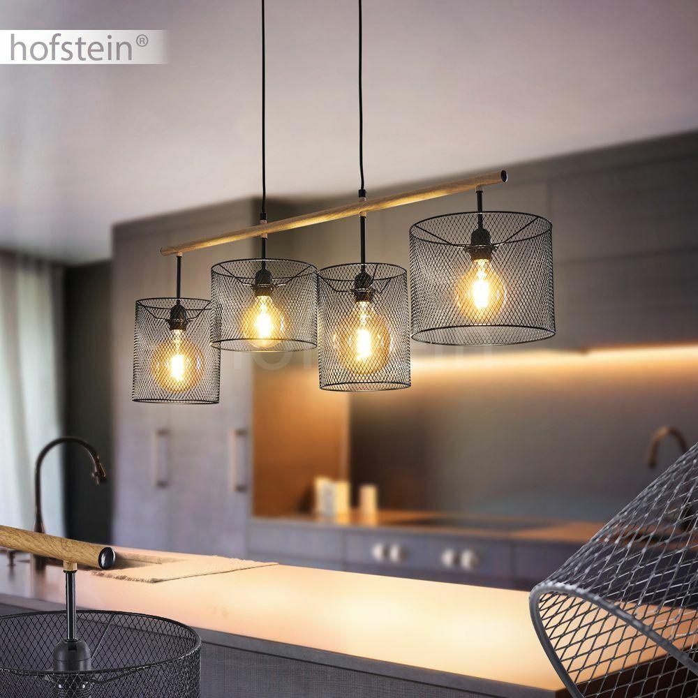 schwarzGoldene Hänge Lampen modern Wohn Schlaf Ess Zimmer