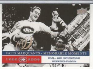 BOB-GAINEY-2008-09-UPPER-DECK-CENTENNIAL-LIMITED-EDITION-296-MONTREAL-CANADIENS