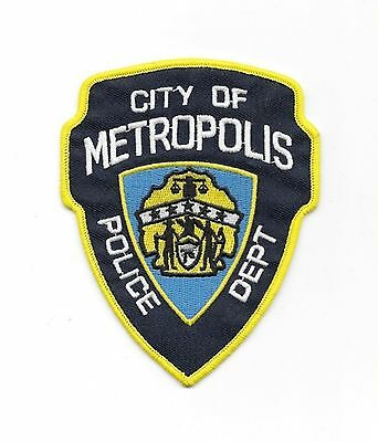 """Superman City of Metropolis Logo 4 1//2/"""" Tall Embroidered Iron on Patch"""