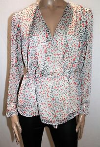 ATMOS-amp-HERE-Brand-Pink-Leopard-Harlow-Wrap-Around-Blouse-Top-Size-12-BNWT-RA36