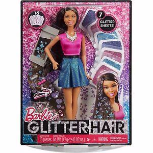 Barbie Glitter Hair Doll  African American Mattel CLG19 NEW IN BOX!
