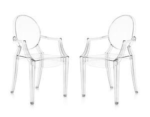 Details zu 2 X Kartell Louis Ghost - Sedia Trasparente - design Philippe  Starck