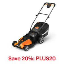 "WORX WG744 2X20V PowerShare 17"" Cordless Electric Mower w/Mulch Plug,Code:PLUS20"
