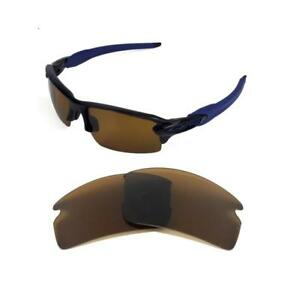 NEW POLARIZED REPLACEMENT BRONZE LENS FOR OAKLEY FLAK JACKET 2.0 ... 1916d9f2b542