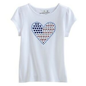 Red White Blue Heart Top Shirt Size 4t Memorial Day 4th Of