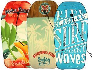 Adults /& Leash Plug 84cm Boogie Board Bodyboard Surf Board Float Kids