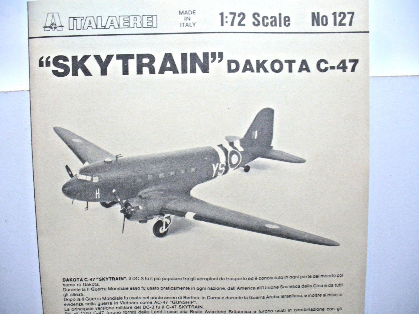 C-47 SKYTRAIN  Douglas 1 72  ITALERI    34,5x24x4,5 cm 85b14b