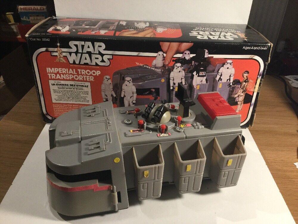 Vintage 1979 Star Wars Imperial Troop Transporter Within Its Original Box