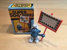 Schildträger 40208 Superschlumpf in OVP Ausgabe 1 Schlümpfe Smurf