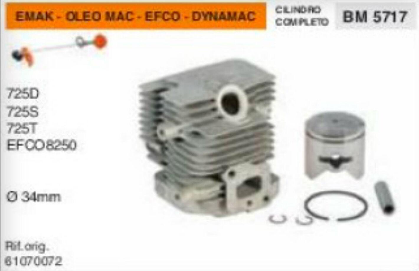 Zylinder und Kolben Freischneider Emak dynamac Oleo Mac 725 EFCO 8250 Ø 34 mm