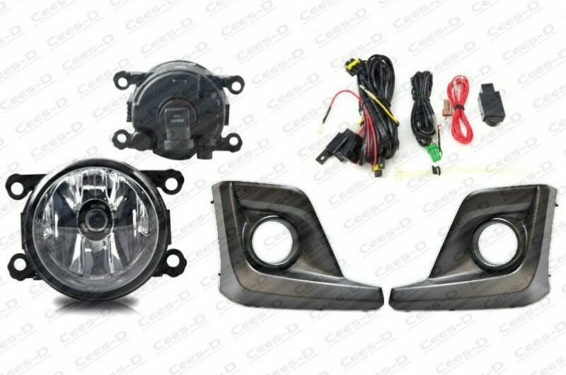 Complete  Fog Light Kit For 2018 2019 Subaru Crosstrek  Housing Switch Wiring
