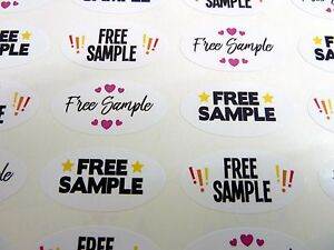 Details about Free Sample Stickers Colourful Promotional Retail Labels for  Craft Stalls Shops