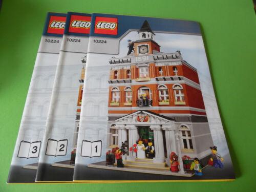 only instruction, no bricks Lego Bauanleitung 10224 Rathaus keine Steine