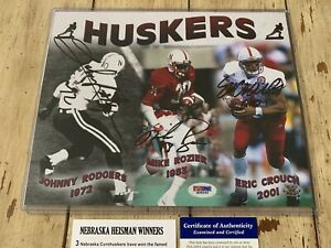 Nebraska Heisman Winners Autographed/Signed 8x10 Photo Cornhuskers