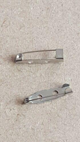 Chrome-Broche dos Bar PINS 20 mm pour badge Making Plain Blank Small