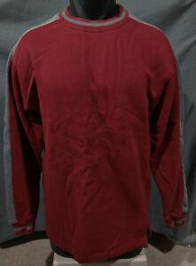 Marks-amp-Spencer-Mens-Casual-Classic-Sweatshirt-Sweater-Dark-Red-Gray-Small