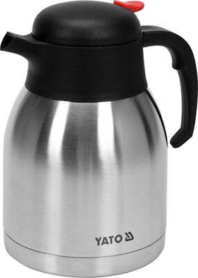 Yato Thermos Pumpkanne 2,2 L Edelstahl Isolierkanne Kaffeekanne Teekanne Kanne