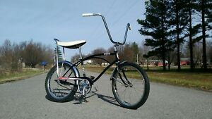 Restored-Black-1965-Murray-Foremost-WILDCAT-Muscle-Bike-Rare-Bicycle