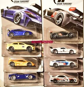 4 8 Modellautos Set PlayStation PS 1:64 Hot Wheels Gran Turismo Sortiment 4