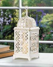 Lanterne a bougie aura style marocaine blanche
