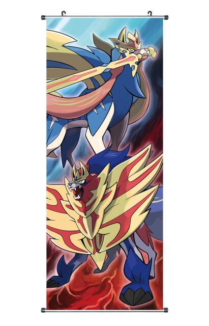 Kakemono aus Stoff Poster 100x40cm Großes Inu Yasha Rollbild Sesshomaru