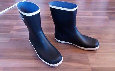 Herrenschuhe PräZise Herren Rain Boots Schwarz Rubber Regenstiefel Gr.46 Stiefel