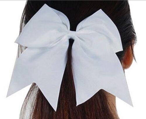 "USA SOFTBALL 1 JUMBO 7/"" Cheer Bow Ponytail Holder Teen Big Girls Large Hair Bow"
