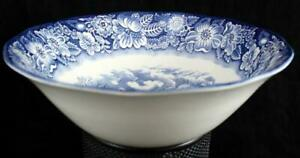 Staffordshire-LIBERTY-BLUE-Round-Vegetable-Bowl-GREAT-CONDITION