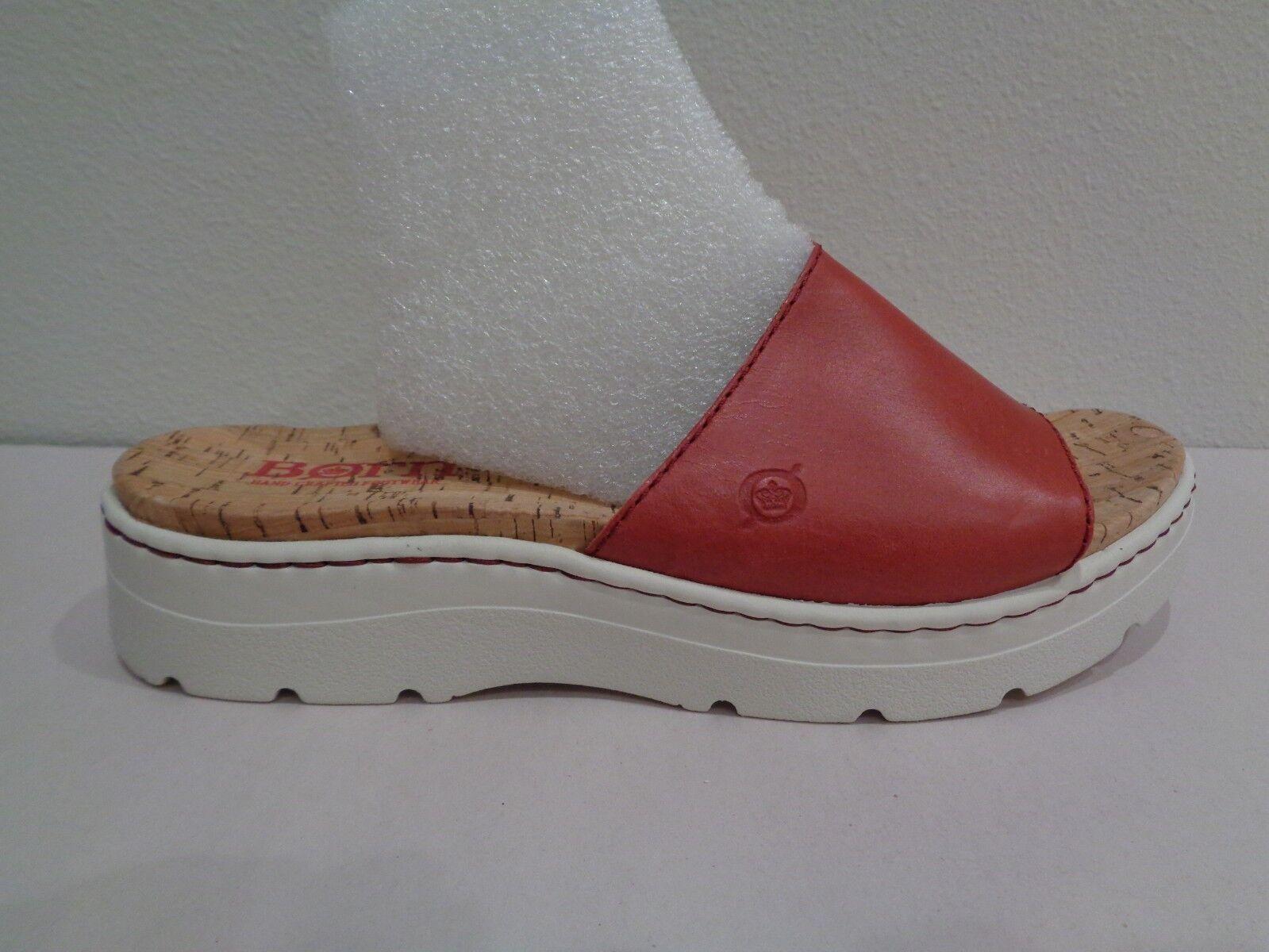 Nacido M Benítez Rojo Cuero Nuevos Mujer Zapatos Sandalias De Plataforma Diapositivas