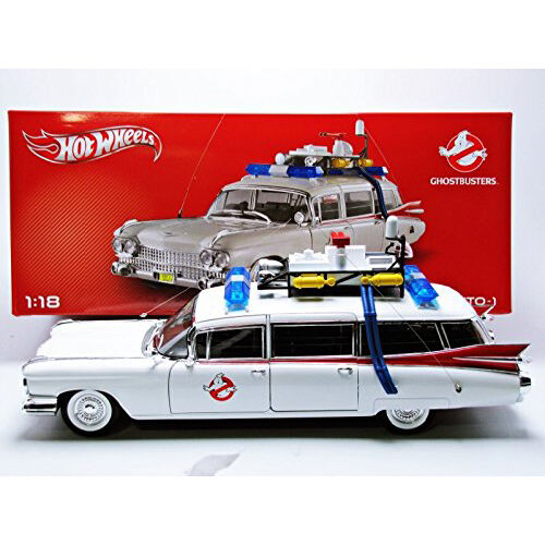 HOT WHEELS Collector Ghostbusters Ecto - 1 Die-Cast Véhicule (échelle 1 18)   BCJ75