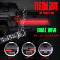 60 Dual Row Led Tailgate Bar Turn Signal Brake Led Light Bar Strip Truck Rear