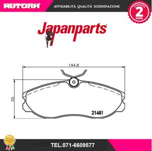 PA017AF-Kit-pastiglie-freno-a-disco-Nissan-Terrano-II-R20-MARCA-JAPANPARTS