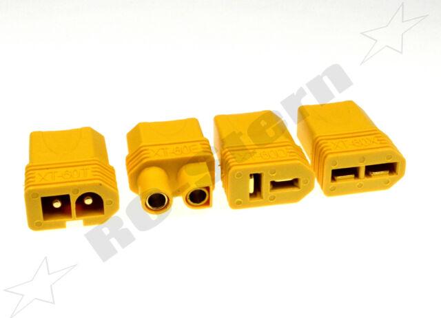 XT60 - Stecker auf Tamiya, EC3, Traxxas oder T-Buchse - Adapterstecker