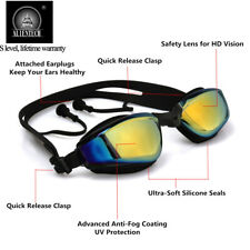 Alientech Adult Anti-fog Swimming Goggles Glasses Electroplating Lens UV Protect